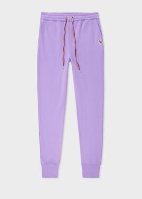 Paul Smith Women's Lilac Zebra Logo Organic-Cotton Sweatpants