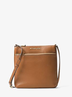 MICHAEL Michael Kors MK Riley Small Pebbled Leather Messenger Bag - Acorn - Michael Kors