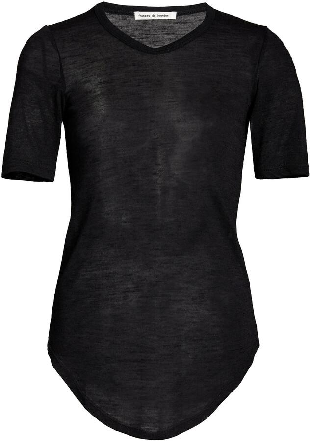 Thumbnail for your product : FRANCES DE LOURDES Women's Hardy Cashmere-Silk T-Shirt - Black - Moda Operandi