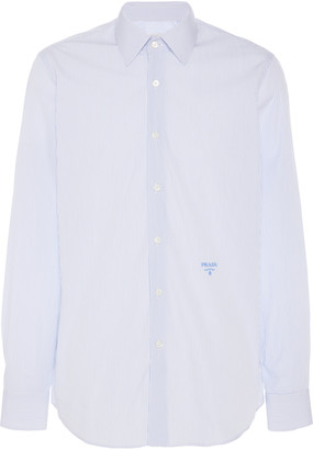 Prada Pinstriped Cotton-Poplin Shirt
