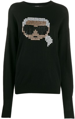 Karl Lagerfeld Paris pixel sweater