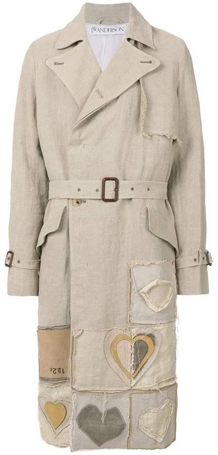 J.W.Anderson heart-appliquéd trench coat