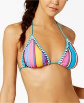Nanette Lepore Nanette by Sayulita Serape Striped Triangle Bikini Top, Created for Macy's Women's Swimsuit