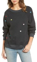 Wildfox Couture Women's Sommers Sweater - Heart Embroidered Pullover