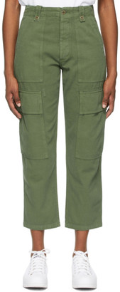 Citizens of Humanity Khaki Zadie High-Rise Surplus Trousers