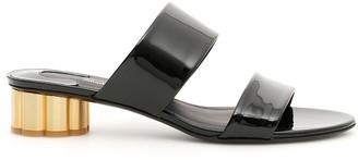 Salvatore Ferragamo Patent Belluno Sandals