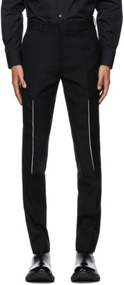 Alexander McQueen Black Wool Slashed Seam Trousers