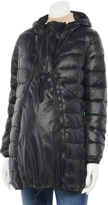 Modern Eternity Maternity 3-in-1 Lightweight Hooded Down Jacket