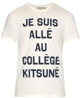 MAISON KITSUNÉ Je Suis Allé cotton-jersey T-shirt