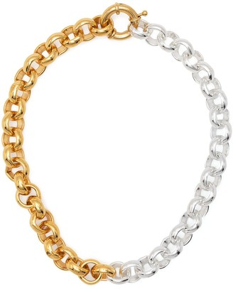 Timeless Pearly Two-Tone Chain Necklace