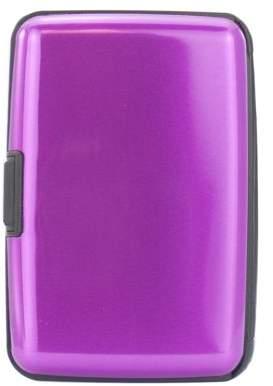 Miami Carryon Metallic Finish RFID Aluminum Wallet / Card Holder (Purple)