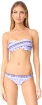 Shoshanna Twist Bandeau Bikini Top