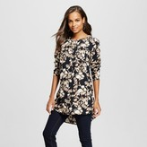 Merona Women's Favorite Tunic Black Floral Print