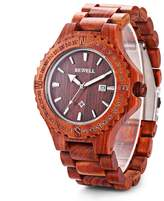 BEWELL ZS - W023A Men Wooden Bangle Quartz Watch