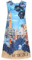 Dolce & Gabbana Embellished silk shift dress