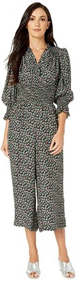 Rebecca Taylor Long Sleeve Louisa Floral Jumpsuit (Macachite Combo) Women's Jumpsuit & Rompers One Piece