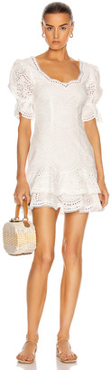 Jonathan Simkhai Meg Puff Sleeve Mini Dress in White | FWRD