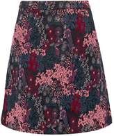 Dorothy Perkins JACQUARD Mini skirt black/pink