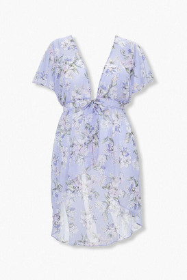 Forever 21 Plus Size High-Low Floral Tunic