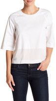 DKNY Cropped Elbow Sleeve Shirt (Regular & Petite)