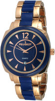 Peugeot Womens Two-Tone Bracelet Watch 7096RBL