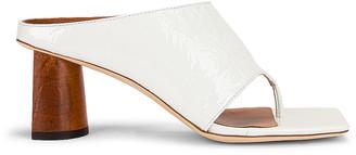 REJINA PYO Lina Sandal in Crinkle White | FWRD