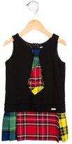 Junior Gaultier Girls' Plaid Sleeveless Dress