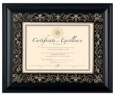 Bed Bath & Beyond 8.5-Inch x 11-Inch Deluxe Document Wood Frame in Florence Black