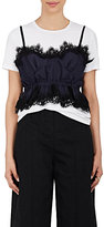 Sacai Women's Two-Tone Corded Lace Top-Black, Navy