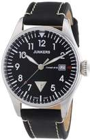 Junkers men's Quartz Watch Analogue Display and Leather Strap 6144-2