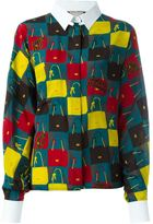 Lanvin bag print shirt - women - Silk - 36