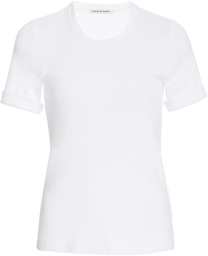 Thumbnail for your product : FRANCES DE LOURDES Women's Sadie Crewneck Cotton T-Shirt - White - Moda Operandi