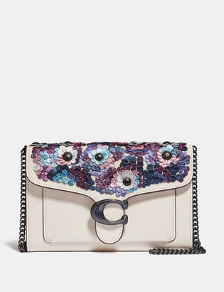 Coach Tabby Chain Clutch With Leather Sequins