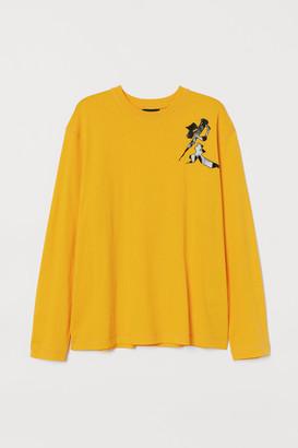 H&M Long-sleeved Printed Shirt