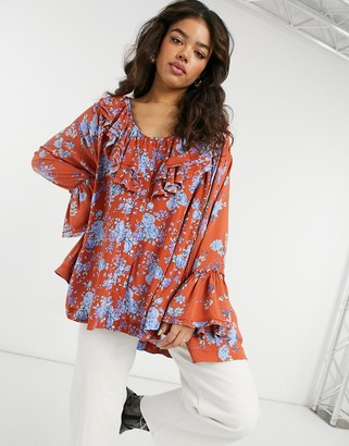 Free People Lorretta floral printed tunic in multi