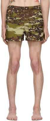 Givenchy Khaki Camouflage Swim Shorts