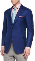 Isaia Cashmere-Silk Blazer, Royal Blue