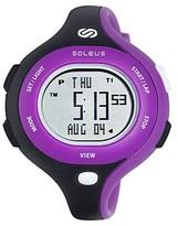 Soleus Chicked Running Watch - Black + Purple