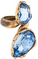 Oscar de la Renta Crystal Bypass Ring