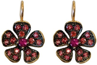 Cathy Waterman Fuchsia Sapphire Petal Violet Rose Gold Earrings