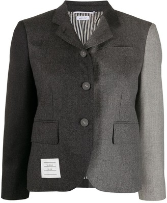 Thom Browne Classic S/C In Super 120's Wool Flannel Blazer