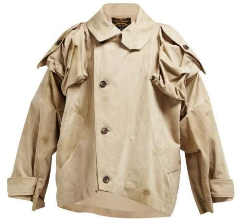 Vivienne Westwood Hypnos Herringbone Cotton Jacket - Womens - Beige