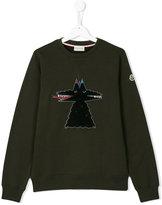 Moncler teen logo embroidered sweatshirt