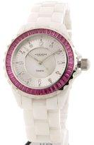 Akribos XXIV Women's AKR498PK Ceramic Baguette Fashion Watch