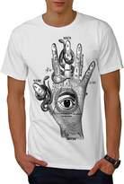 Illuminati Mystic Fantasy Snake Hand Men XXXL T-shirt   Wellcoda