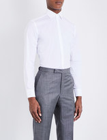 Corneliani Slim-fit cotton-blend shirt