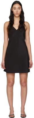 Fleur Du Mal Black V-Neck Essential Slip Dress