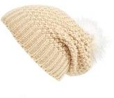 Sole Society Women's Pom Knit Beanie - Black