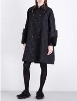 Comme des Garcons Floral-brocade coat