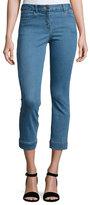 Veronica Beard Gia Cropped Stretch Denim Jeans, Blue